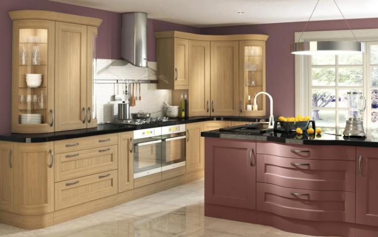 Painted Timber Kitchen Range  Bowfell Oak Plum Island
