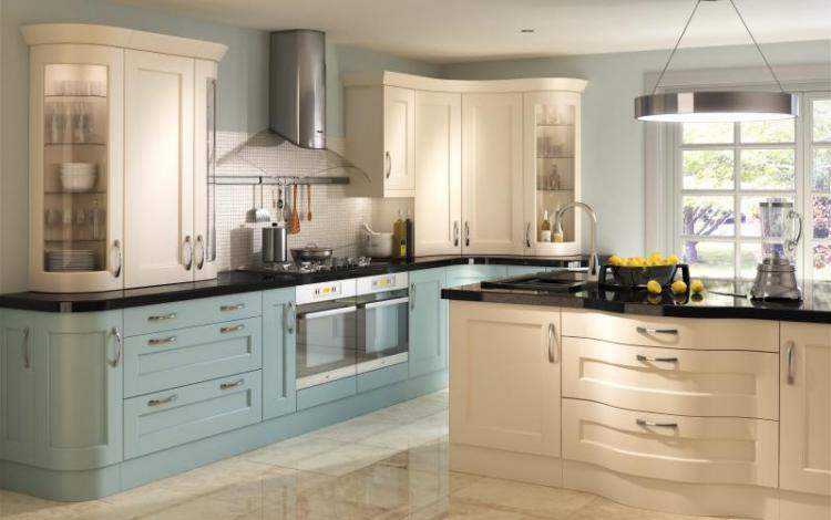 Painted Timber Kitchen Range  Bowfell Painted Cream and Mineral
