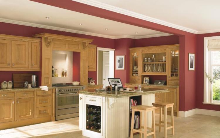 Wood Effect Kitchen Range  Ellison-Oak-Island-Eildon-Ash