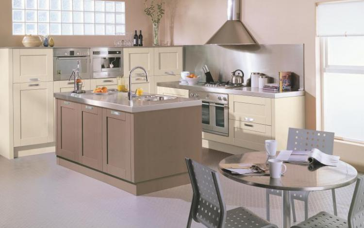 Painted Timber Kitchen Range  TARA Painted Mocha Cotton