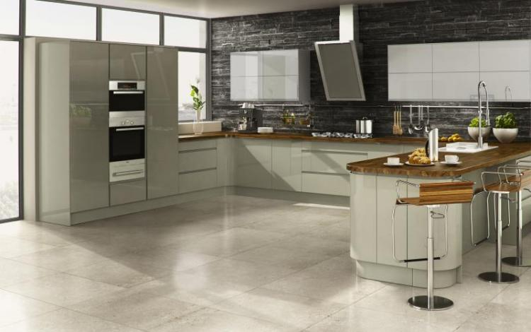 Gloss Kitchen Range  Welford Willow Grey