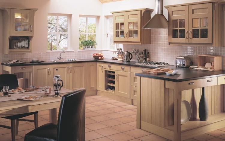 Timber Kitchen Range  BEAUFORT OAK SHAKER