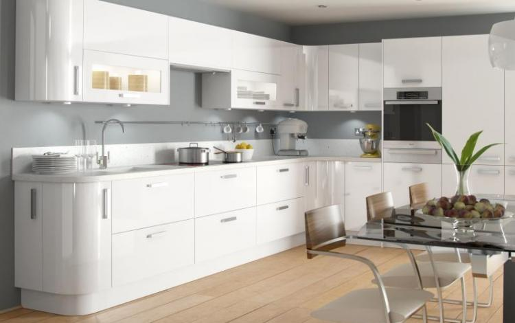Gloss Kitchen Range  Haddington White High Gloss