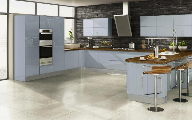 Gloss Kitchen Range  Welford Sky Blue