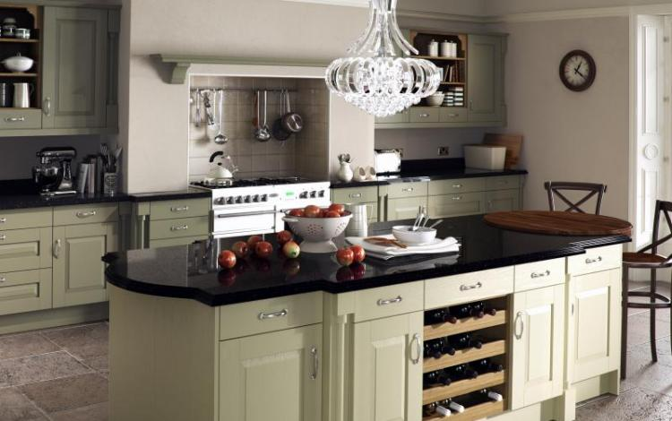 Painted Timber Kitchen Range  Windsor Classic Painted Sage Green Olive