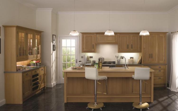 In-Frame Kitchen Range  Iona Light Oak